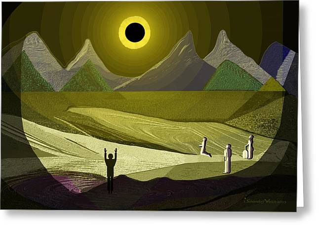 1234 - Eclipse ... Greeting Card by Irmgard Schoendorf Welch