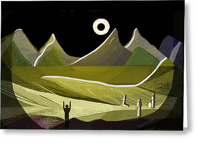 1234 - Eclipse Of The Sun 2017 Greeting Card by Irmgard Schoendorf Welch