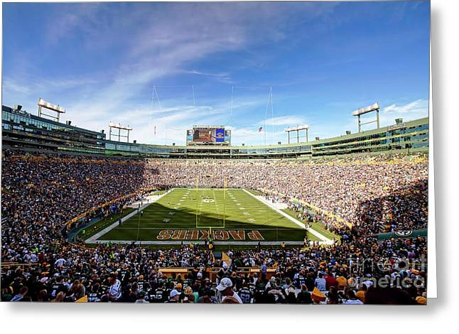 1258 End Zone View Greeting Card by Steve Sturgill