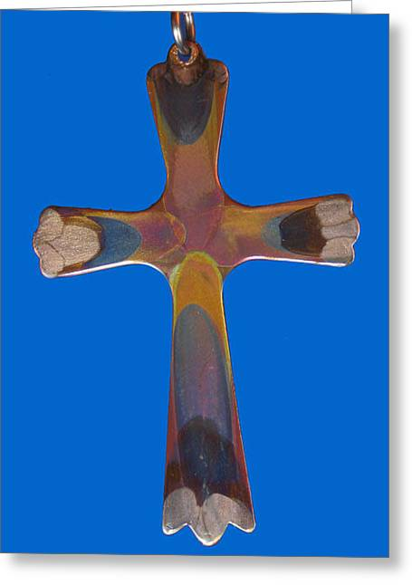 1282b Cross Greeting Card by Dianne Brooks