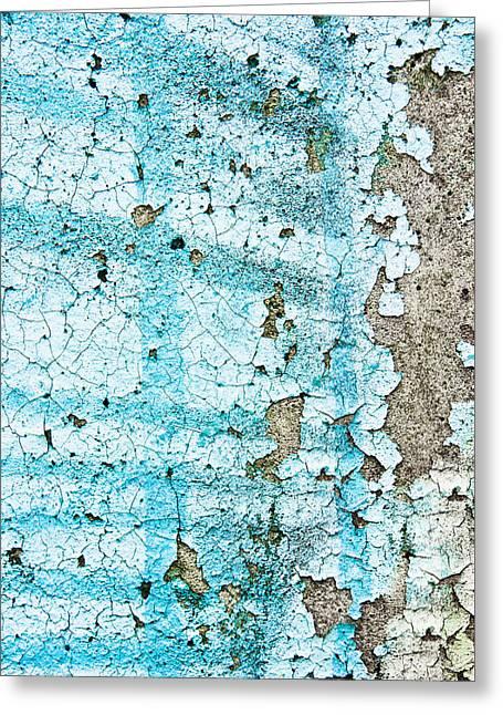 Blue Metal Greeting Card by Tom Gowanlock