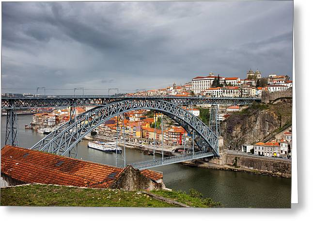 City Of Porto In Portugal Greeting Card by Artur Bogacki