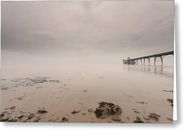 Clevedon Pier Greeting Card