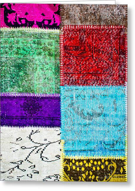 Colorful Textile Greeting Card by Tom Gowanlock