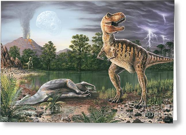 Cretaceous-tertiary Extinction Event Greeting Card