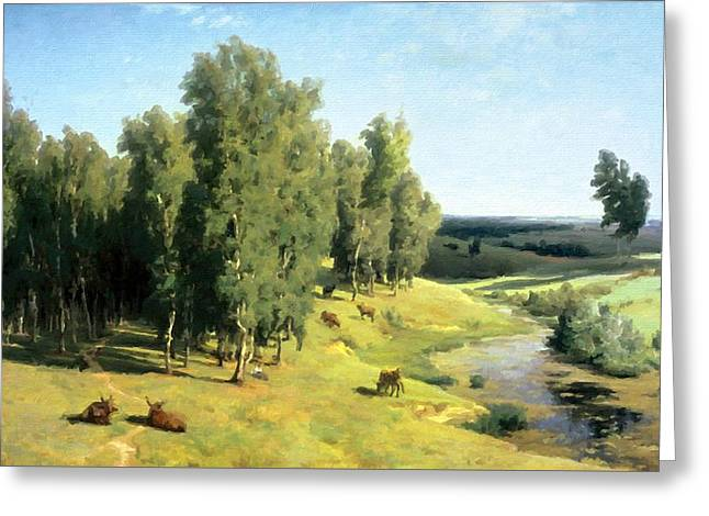 Landscape Painting Greeting Card by Victoria Landscapes