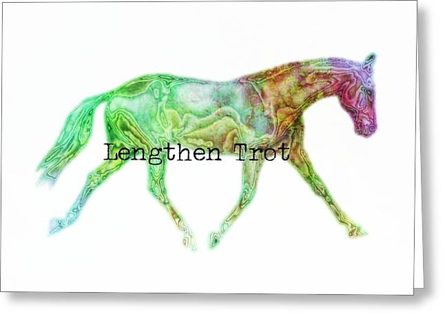 Lengthen Trot Watercolor Quote Greeting Card by JAMART Photography