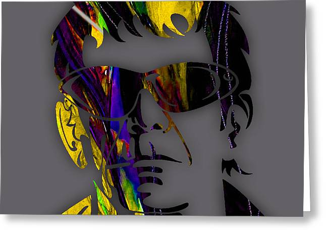 Lou Reed Collection Greeting Card by Marvin Blaine