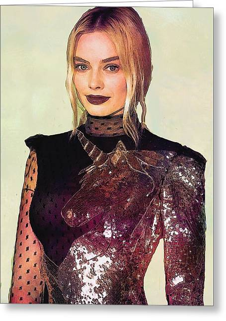 Margot Robbie Art Greeting Card by Best Actors
