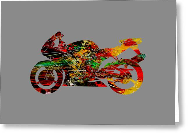 Ninja Motorcycle Greeting Card