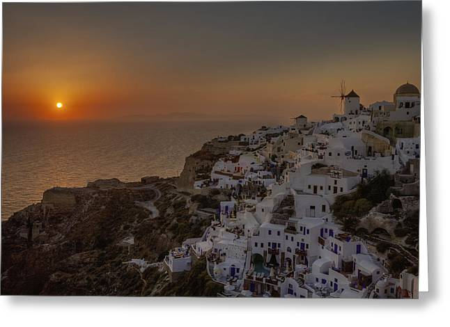 Mills Photographs Greeting Cards - Oia - Santorini Greeting Card by Joana Kruse