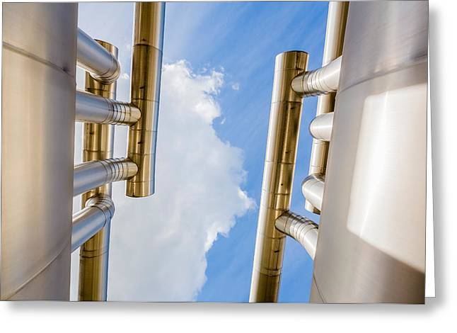 Pipes At Nesjavellir Geothermal Power Greeting Card by Panoramic Images
