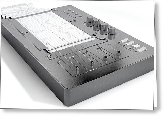 Polygraph Lie Detector Machine Greeting Card by Allan Swart