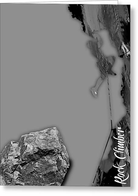 Rock Climber Collection Greeting Card