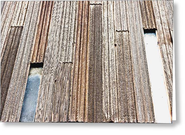 Wooden Panels Greeting Card by Tom Gowanlock