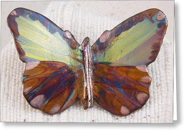 1351 Small Butterfly Pendant Greeting Card by Dianne Brooks