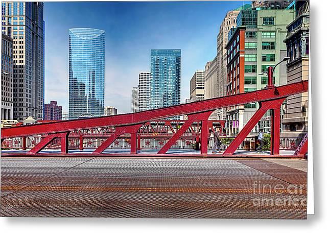 1356 Lasalle Street Bridge Greeting Card