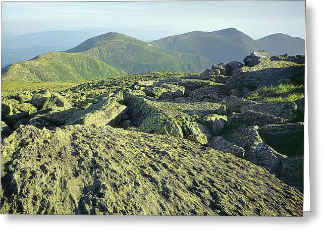 Greeting Card featuring the photograph 135706 View From Mt. Washington Nh by Ed Cooper Photography