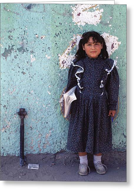 Cuidad Juarez Mexico Color From 1986-1995 Greeting Card by Mark Goebel