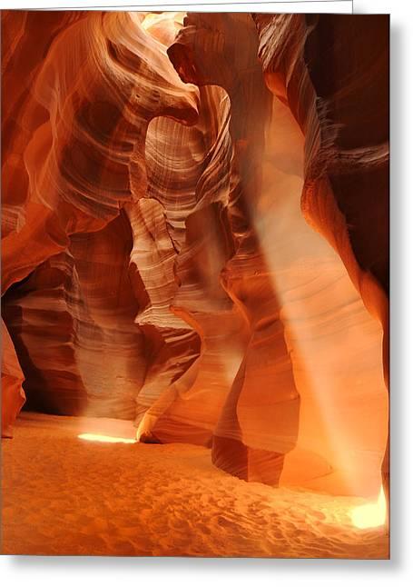 Antelope Canyon Greeting Card by Jacek Joniec