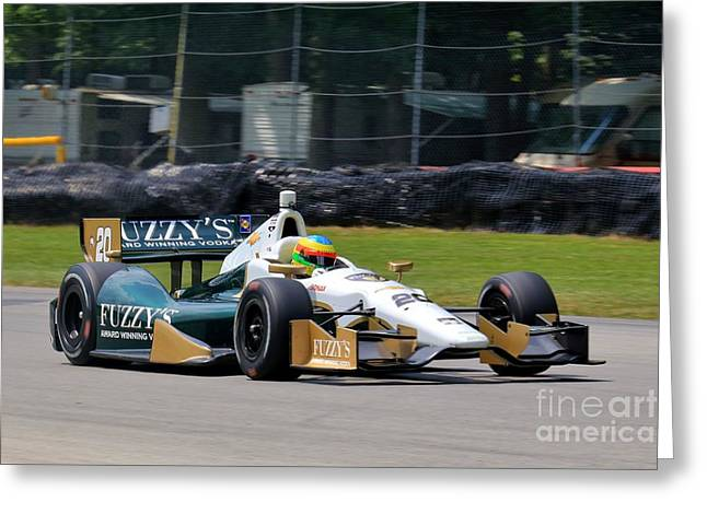 Indycar Motorsports Greeting Card by Douglas Sacha