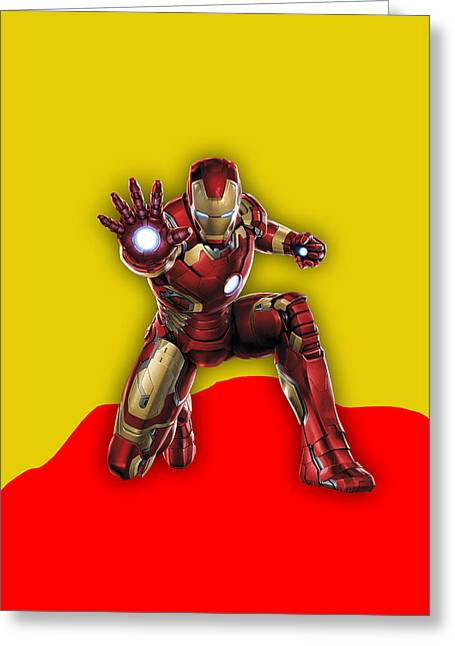 Iron Man Collection Greeting Card by Marvin Blaine