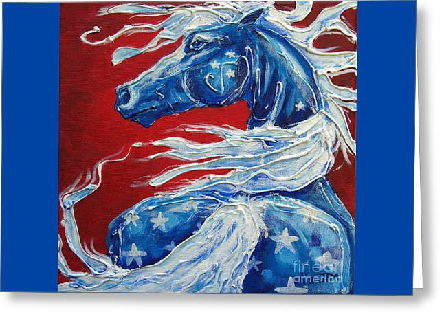 #14 July 4th Greeting Card by Jonelle T McCoy