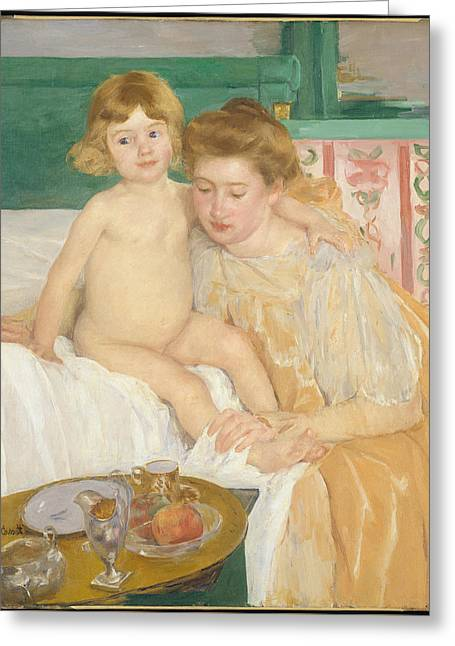 Mother And Child  Greeting Card by Mary Cassatt