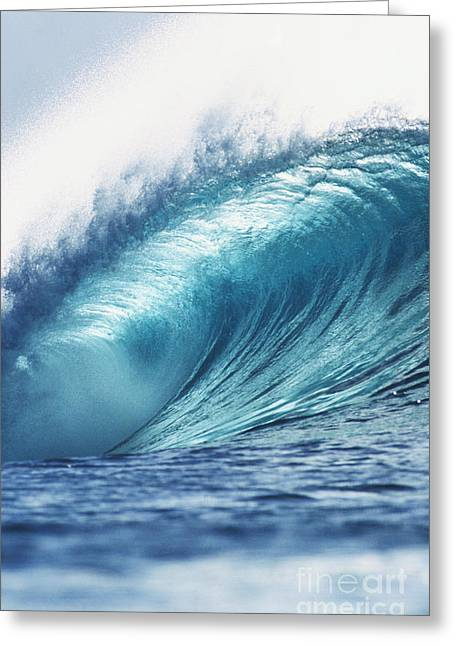 Perfect Wave At Pipeline Greeting Card by Vince Cavataio - Printscapes