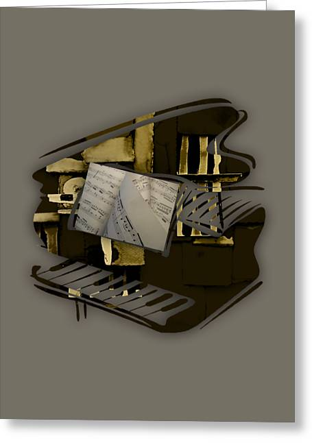 Piano Collection Greeting Card by Marvin Blaine