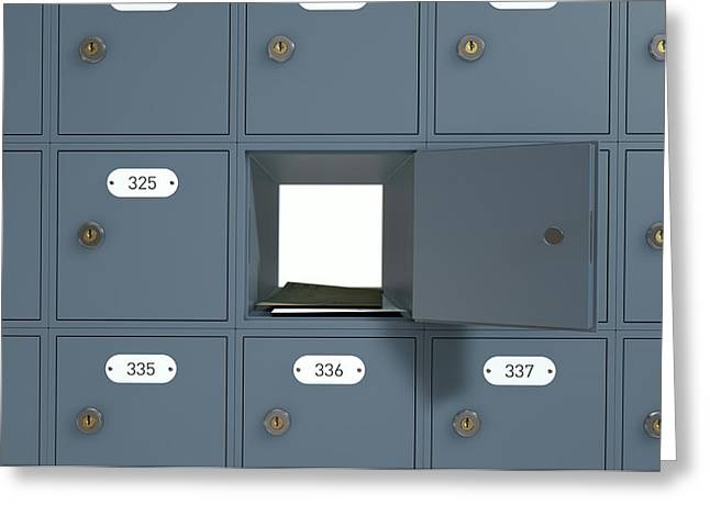 Post Office Boxes Greeting Card