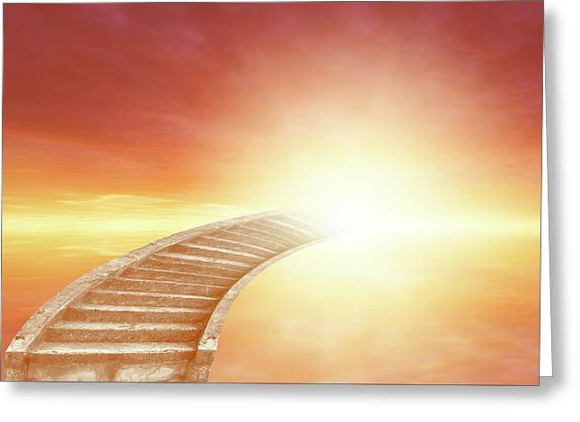 Greeting Card featuring the photograph Stairway To Heaven by Les Cunliffe