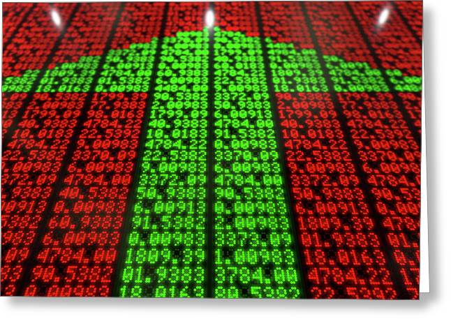 Stock Market Digital Board Greeting Card