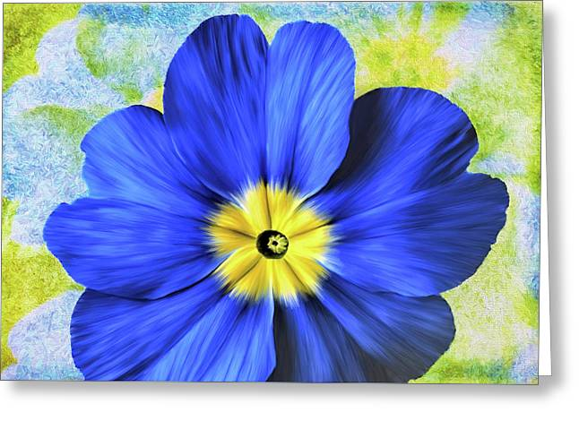 Blue Primrose Greeting Card