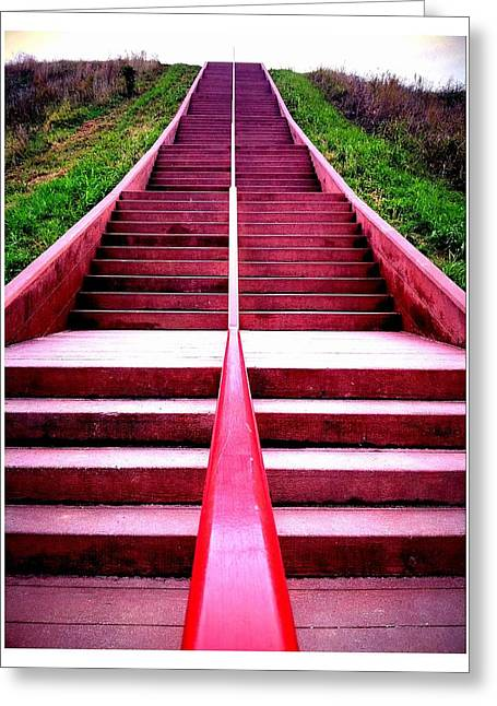 145 Steps To Monks Mound Greeting Card by John McGarity