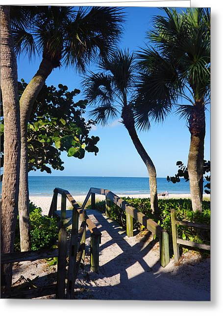 14th Ave S Beach Access Ramp - Naples Fl Greeting Card