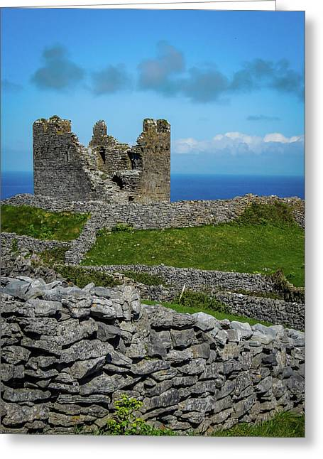 Greeting Card featuring the photograph 14th Century O'brien's Castle Aran Islands by James Truett