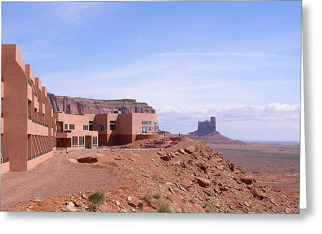 America - Monument Valley View Hotel Greeting Card by Jeffrey Shaw