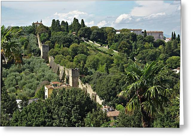 Greeting Card featuring the photograph Florence Italy by Cendrine Marrouat