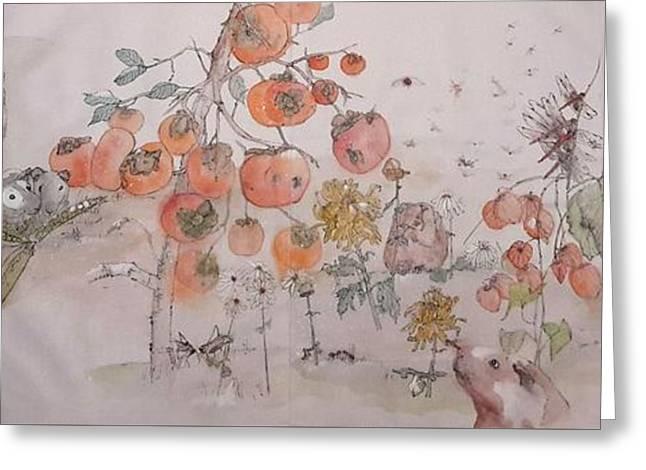 Garden  Of  Plenty  Album  Greeting Card by Debbi Saccomanno Chan