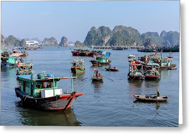 Halong Bay - Vietnam Greeting Card by Joana Kruse