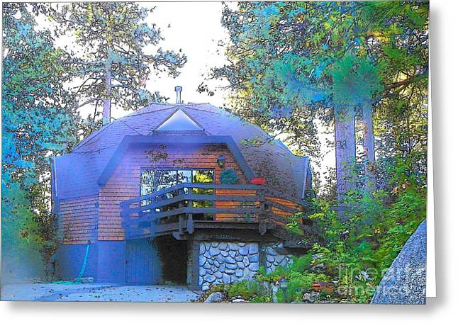 Idyllwild - Houses On The Hill Greeting Card