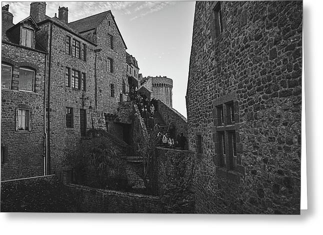 Greeting Card featuring the photograph Mont-saint-michel France by Cendrine Marrouat
