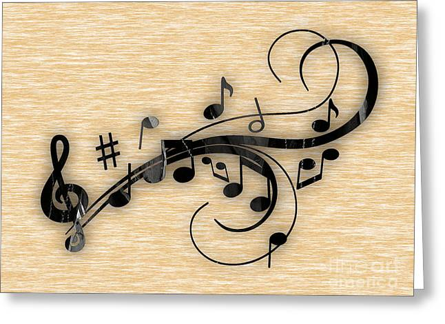 Music Flows Collection Greeting Card by Marvin Blaine