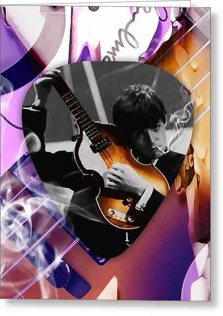 Paul Mccartney Art Greeting Card by Marvin Blaine