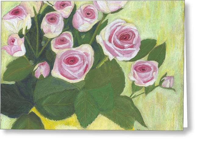 15 Pinks Greeting Card by Arlene Crafton