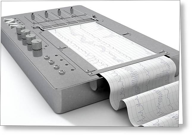 Polygraph Lie Detector Machine Greeting Card