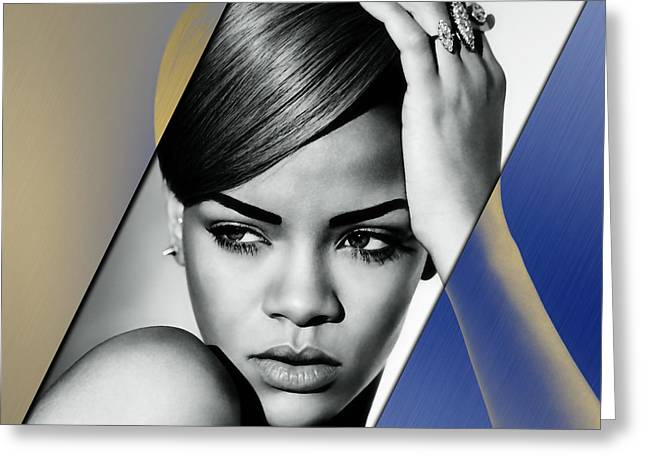 Rihanna Collection Greeting Card