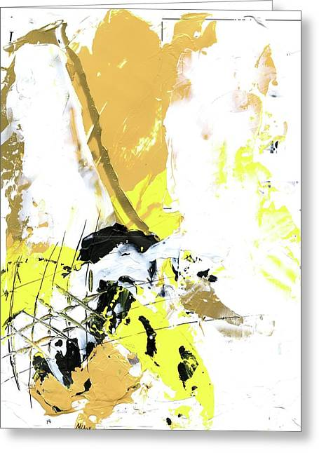 Greeting Card featuring the painting Three Color Palette by Michal Mitak Mahgerefteh
