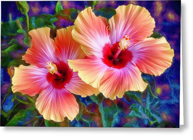 Hibiscus Duo Greeting Card